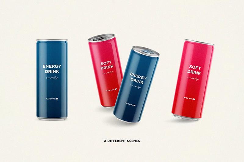 啤酒鸡尾酒苏打水碳酸饮料易拉罐罐头外观设计图样机 Designshidai_com_yj_baozhen03