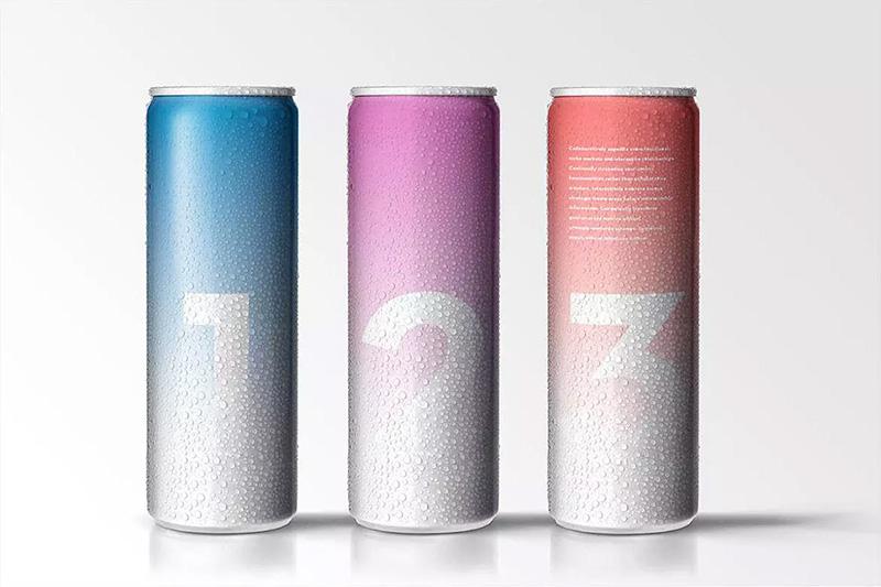 饮料包装水滴效果250毫升水果酒易拉罐外观设计样机模板 Designshidai_com_yj_baozhen02