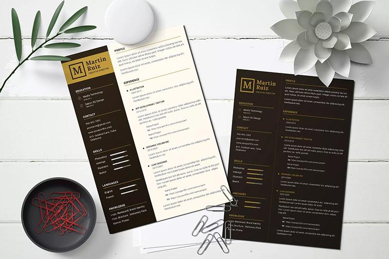 高级互联网设计师程序员开发工程师简历模板 CV Resume  designshidai_com_jianli01