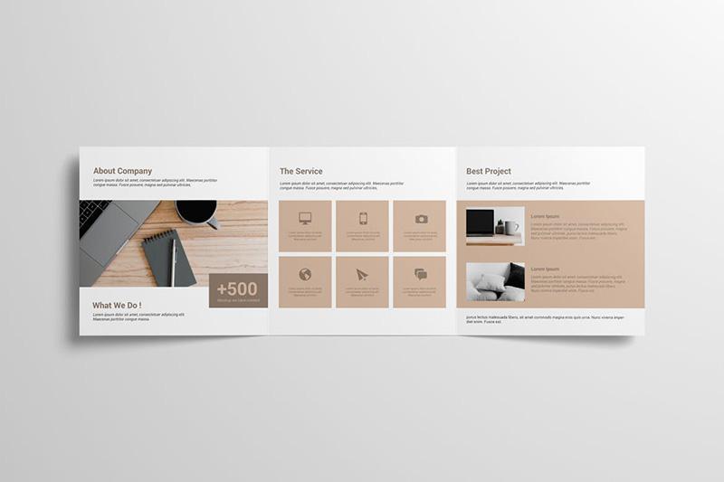 企业简介方形三折页宣传册样机模板designshidai_yj56