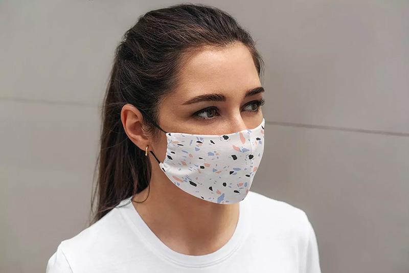真人模特佩戴口罩效果图样机模板designshidai_yj25