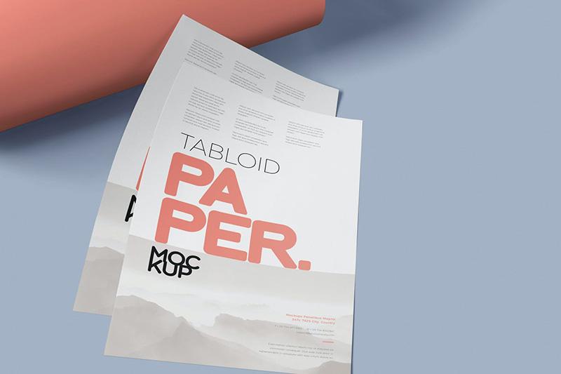 小报尺寸纸张传单样机集designshidai_yj71
