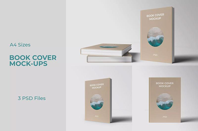 精装图书书籍封面设计前视图样机designshidai_yj76