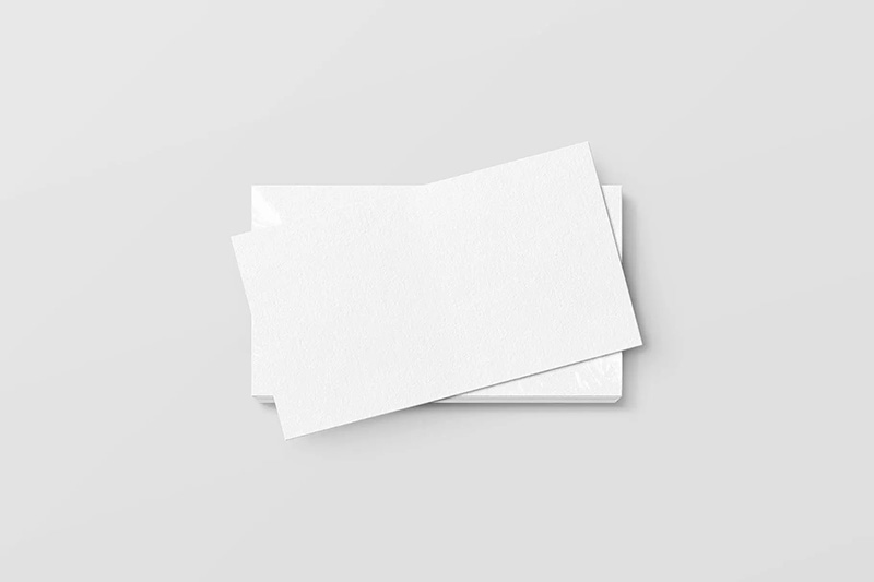 企业名片叠放效果图样机模板 Stacked Business Card Mockup designshidai_yj97