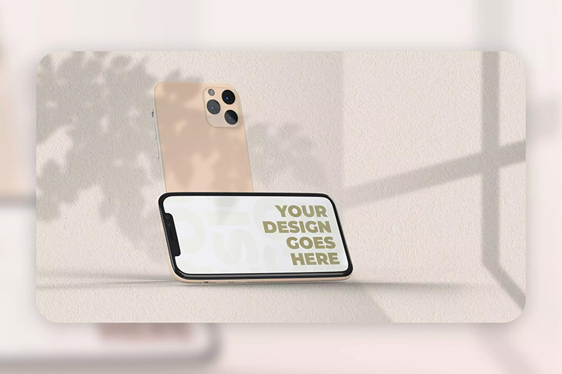 iPhone 11 Pro实体样机屏幕效果预览模板designshidai_yj115