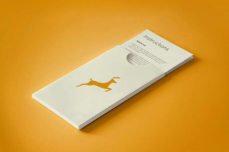 长方形广告卡片PSD样机模板下载designshidai_yj130