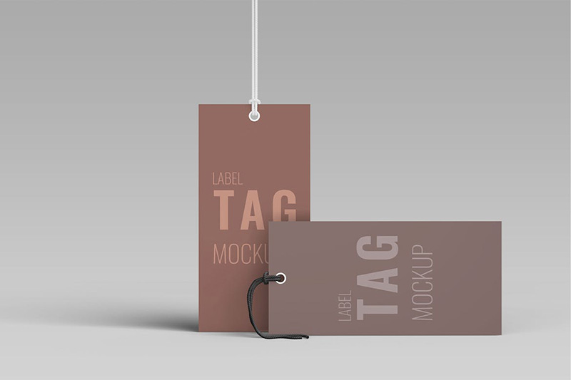 10款极简服饰品牌设计衣服标签PSD模板designshidai_yj141