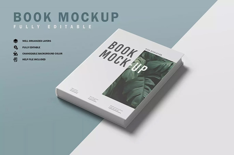 精装书籍图书封面设计效果样机模板v4 Book Mockup V.4 designshidai_yj90