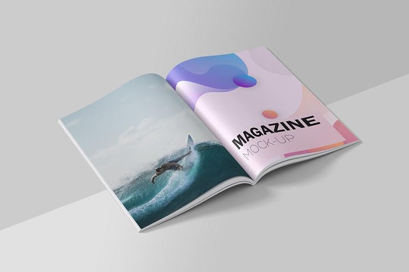 杂志内页排版设计预览样机模板designshidai_yj98