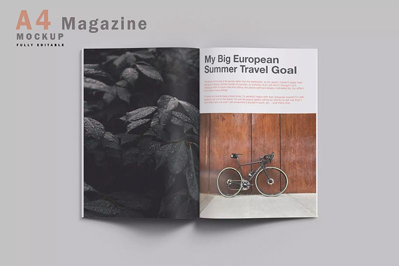 杂志内页排版设计预览样机模板designshidai_yj99