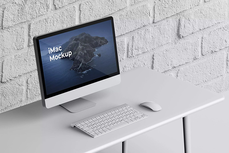iMac一体机电脑屏幕网页设计展示样机模板designshidai_yj108