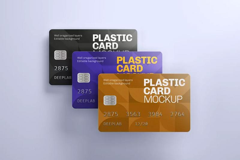 银行卡/信用卡/会员卡设计样机模板designshidai_yj146