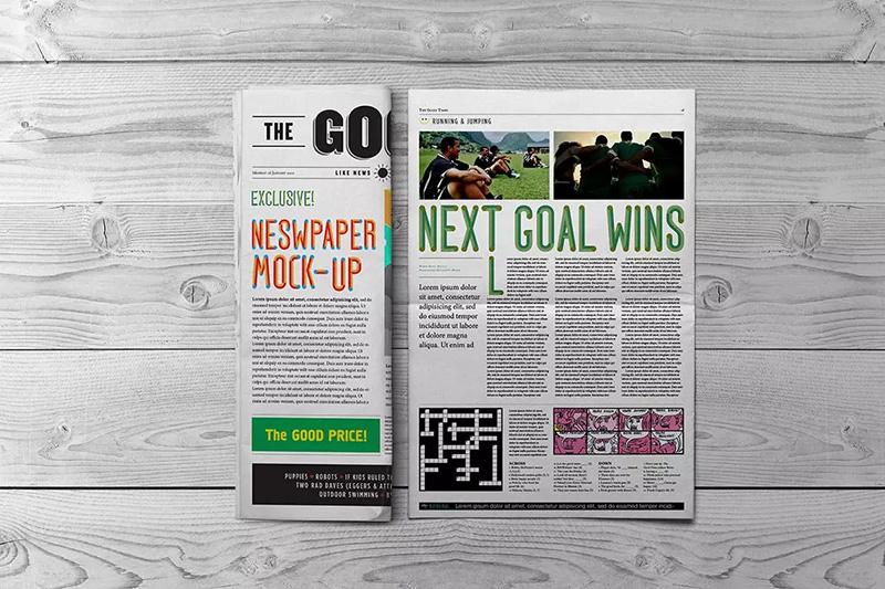 新闻报纸排版设计效果图样机模板Zsyjbz_201007005