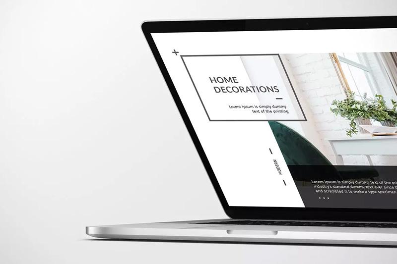 闭合笔记本电脑屏幕展示样机模板designshidai_yj175