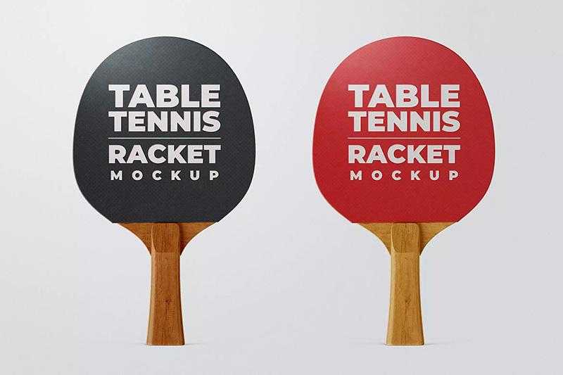 乒乓球拍品牌Logo定制设计样机模板designshidai_yj183