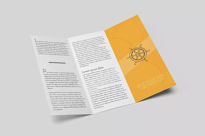 三折页广告宣传册设计样机模板designshidai_yj012