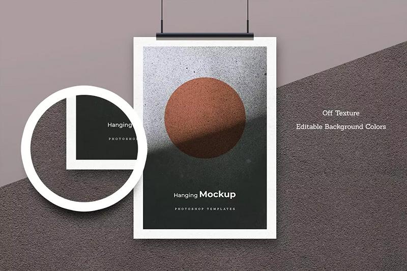 海报设计悬挂效果图样机模板designshidai_yj200