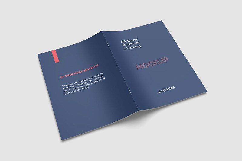 A4产品杂志封面设计高角度视图样机designshidai_yj29
