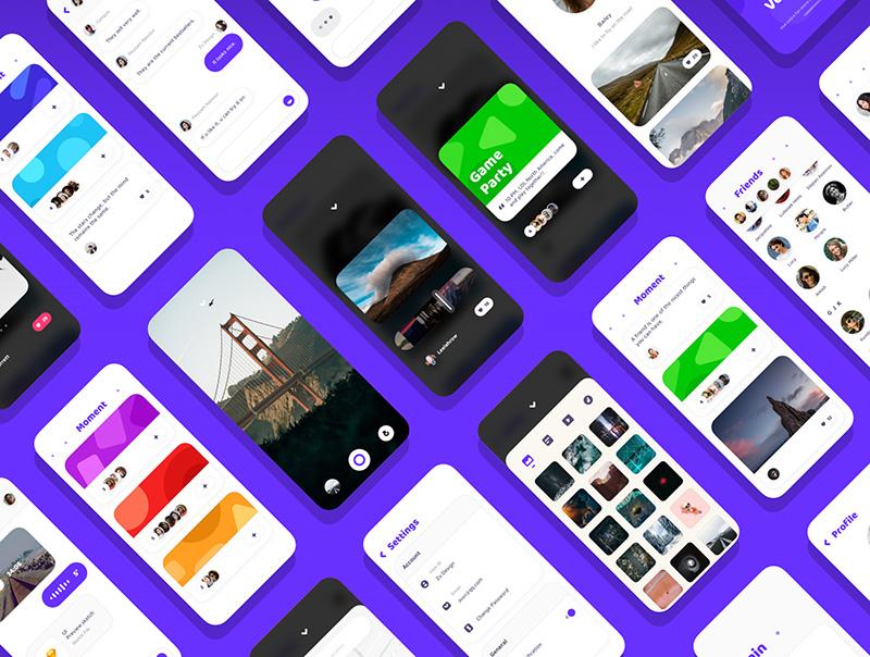 现代主流UI设计社交应用聊天APP应用UI设计套件sketch designshidai_ui001