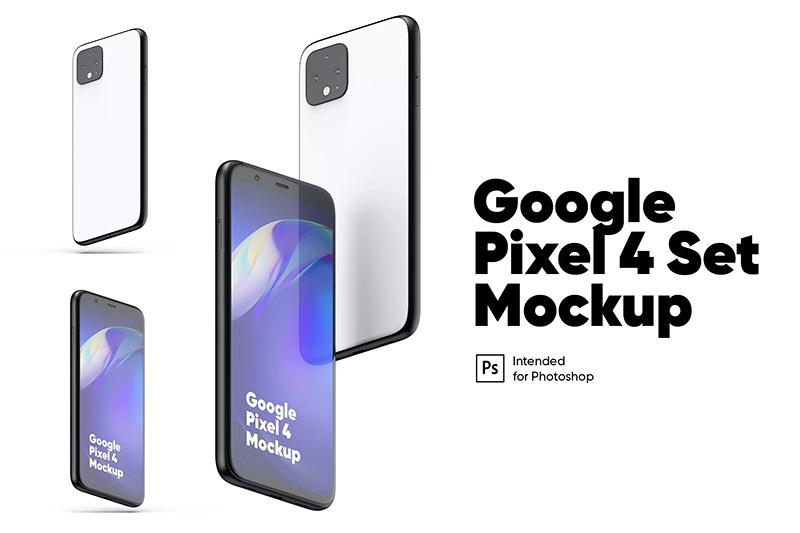 Google Pixel 4谷歌手机屏幕展示样机designshidai_yj49