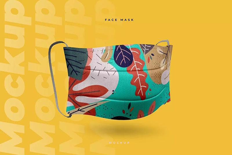 棉质口罩图案设计效果图样机designshidai_yj61