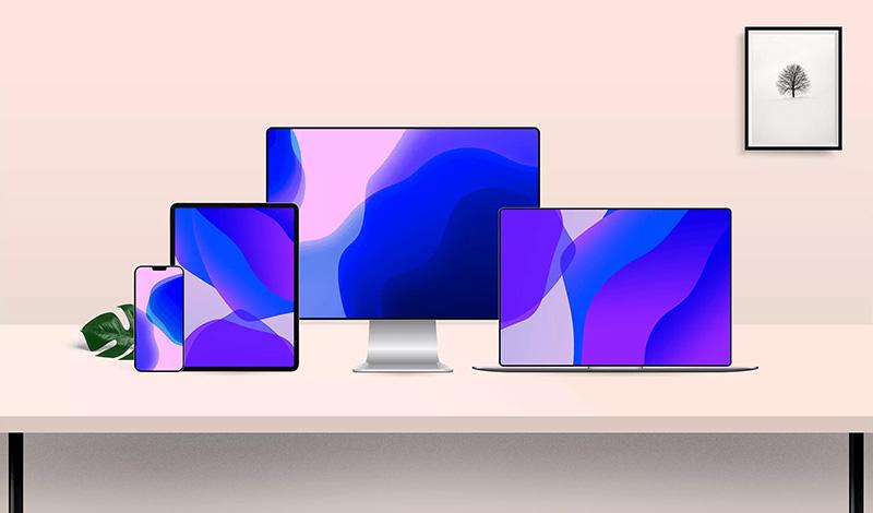 高分辨率的响应式网页UI设计展示多设备屏幕演示样机模板designshidai_006