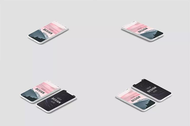 12款手机屏幕UI组件PSD演示模板designshidai_yj127