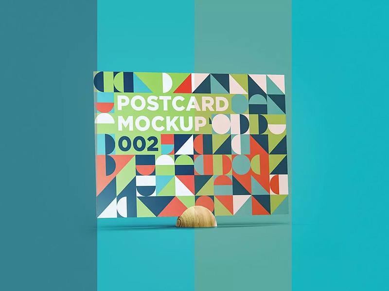 明信片设计效果图样机designshidai_yj149