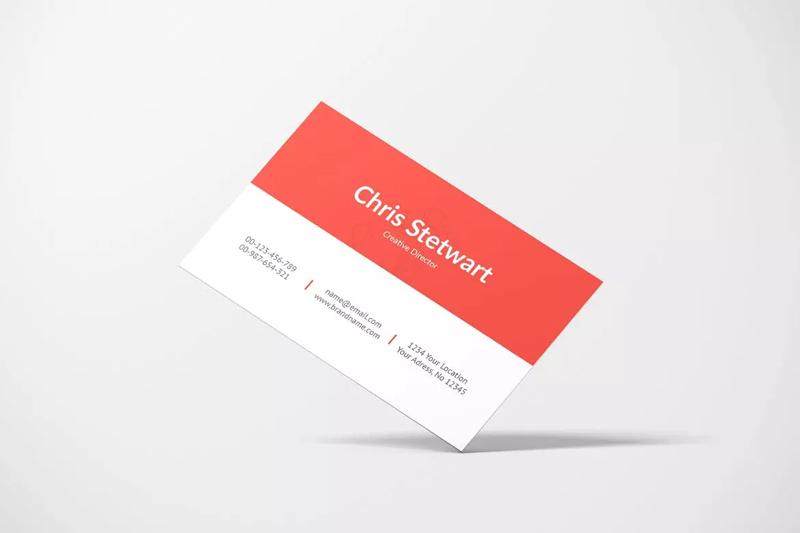企业名片设计效果图样机模板designshidai_yj164