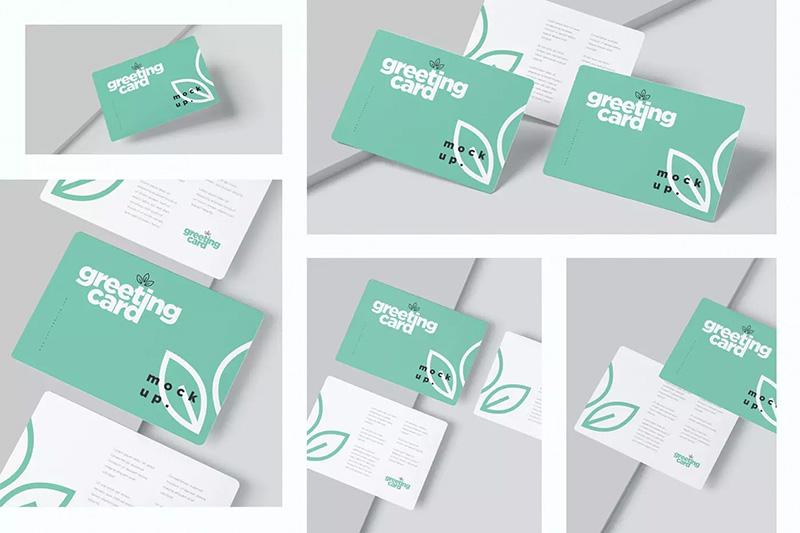 圆角企业/品牌贺卡设计图样机designshidai_yj197