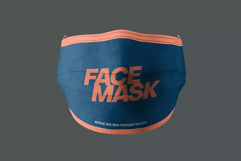 医用防护口罩设计效果图展示样机designshidai_yj36