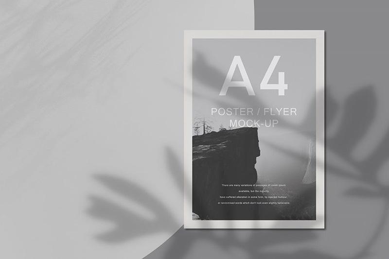 A4尺寸海报展示样机模板designshidai_yj47
