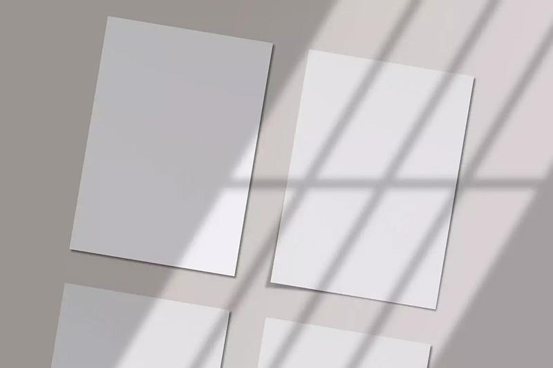 阴影效果A4尺寸海报传单设计样机模板designshidai_yj48