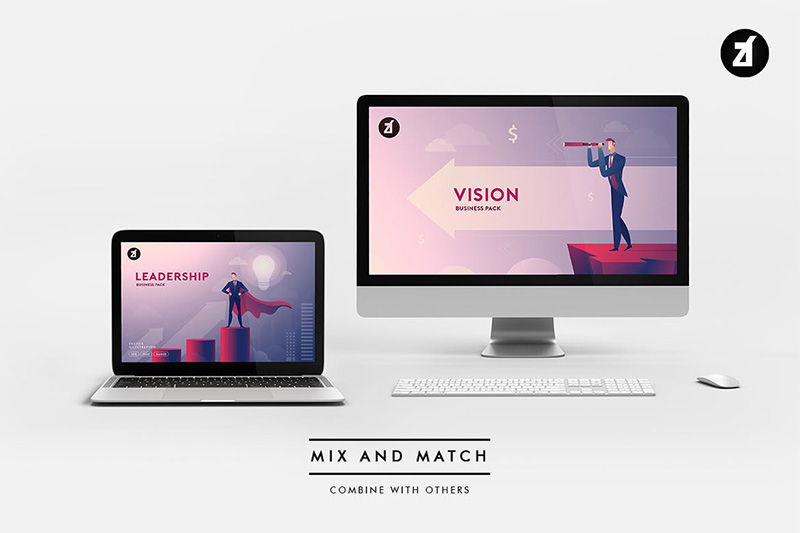 iMac&MacBook样机场景生成器designshidai_yj51