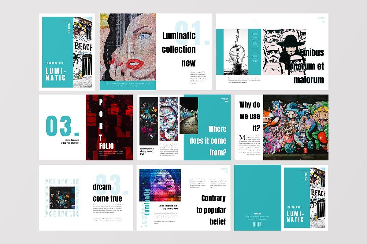 波普艺术个人设计作品集/企业杂志画册模板 Lumatics - Pop Art Magazine Template 4456685