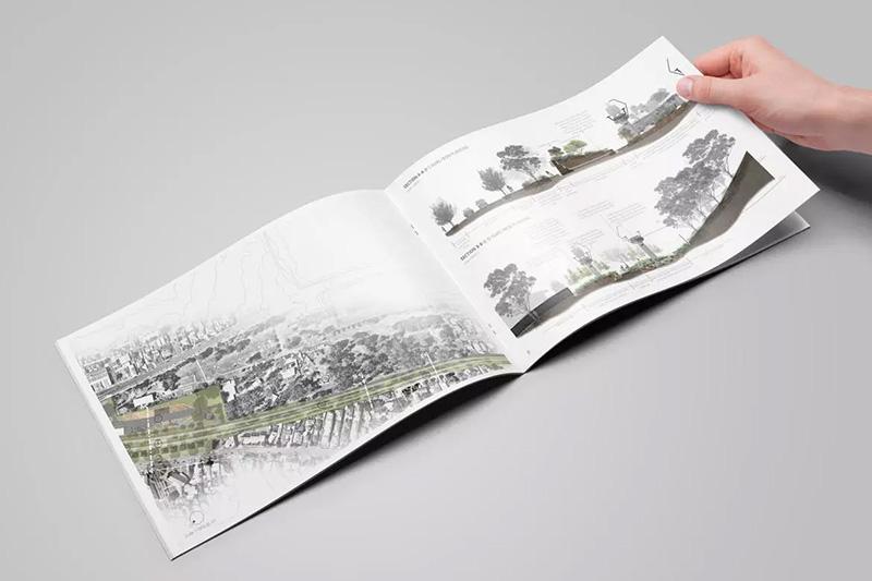高品质横版规格产品画册目录设计样机模板designshidai_yj62
