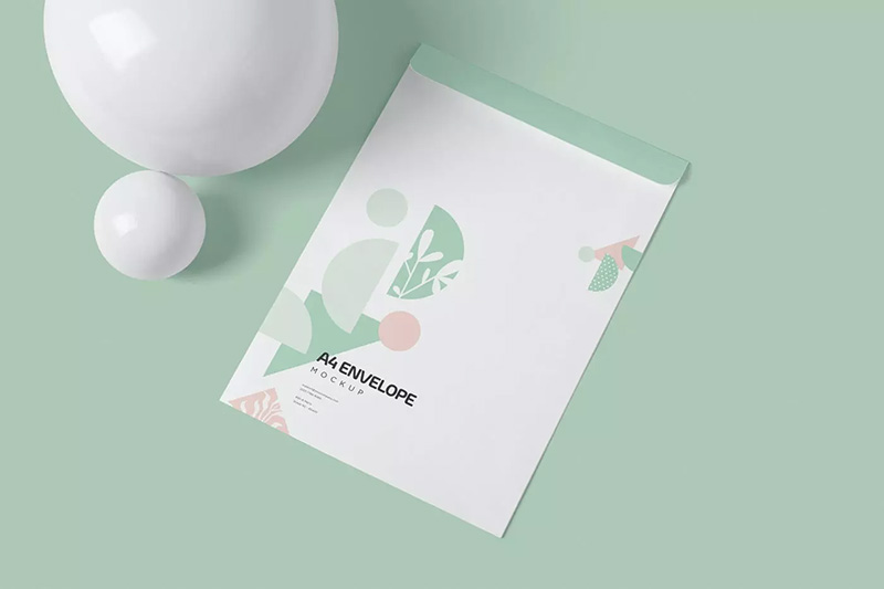 C4尺寸纸张信封设计效果图样机designshidai_yj81