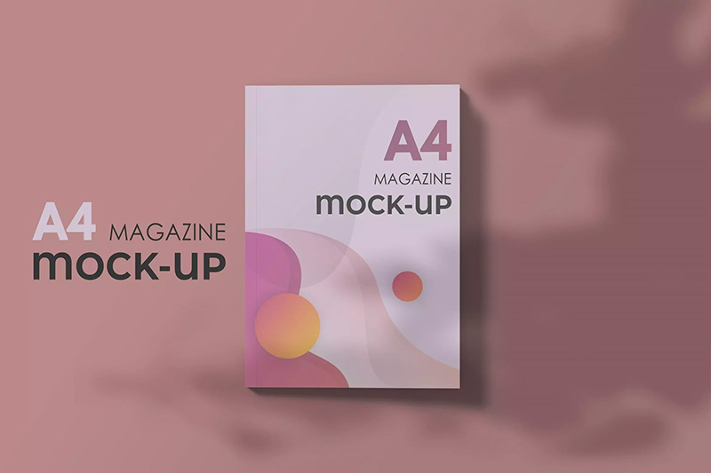 A4时尚杂志封面设计效果样机模板designshidai_yj87