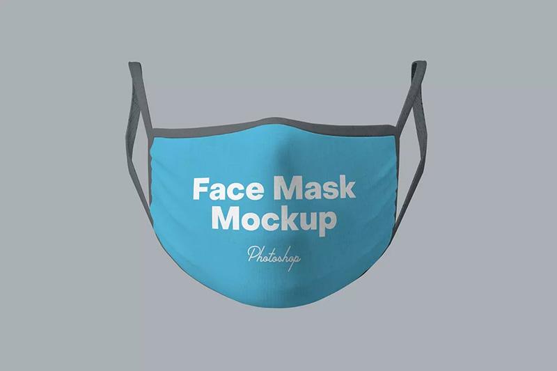 专业仿真医用织物口罩外观样机模板designshidai_yj106