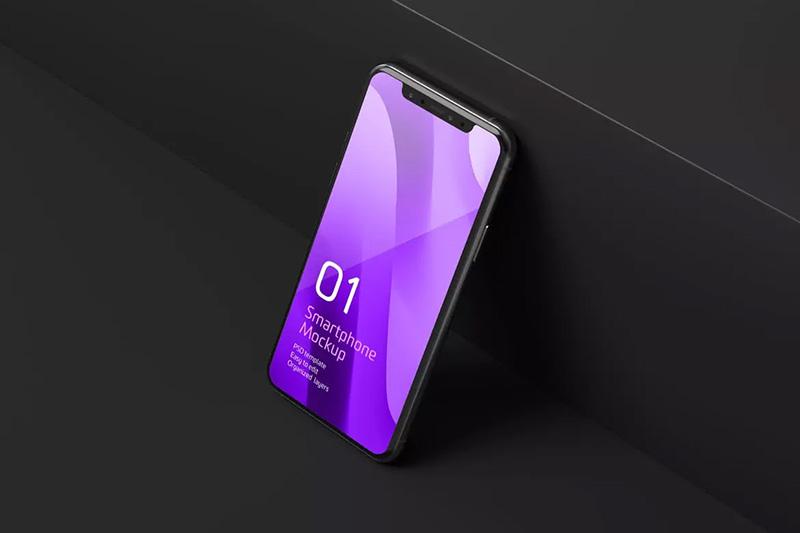 高级黑iPhone 11 Pro应用预览模板designshidai_yj159