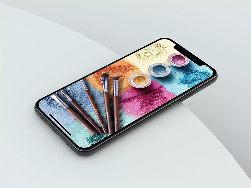 iPhone 11手机屏幕作品展示PSD样机模板designshidai_yj43