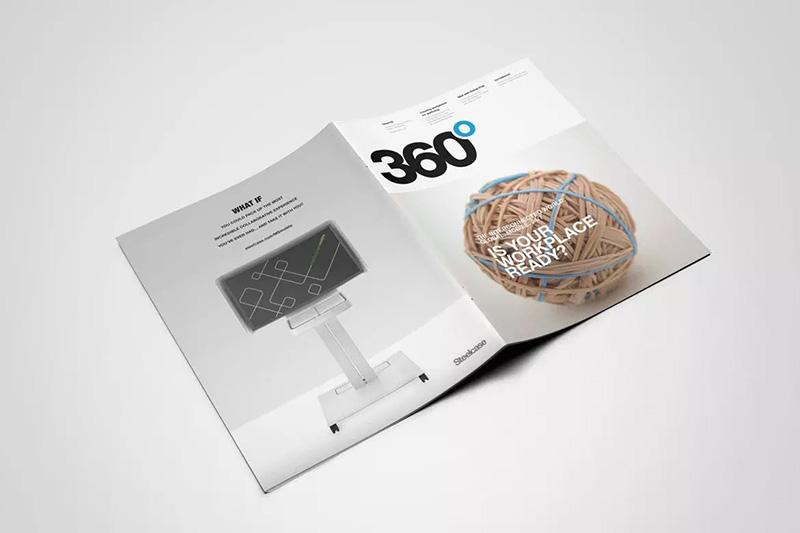 美国信件尺寸产品目录手册设计效果图样机模板designshidai_yj53