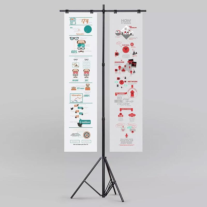 三角支架海报传单广告展示样机模板designshidai_yj179