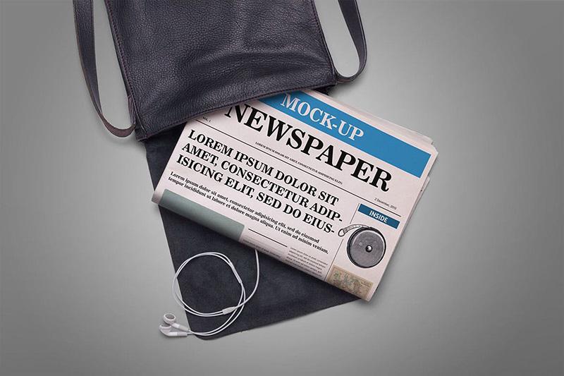 新闻报纸排版设计效果图样机模板designshidai_yj015