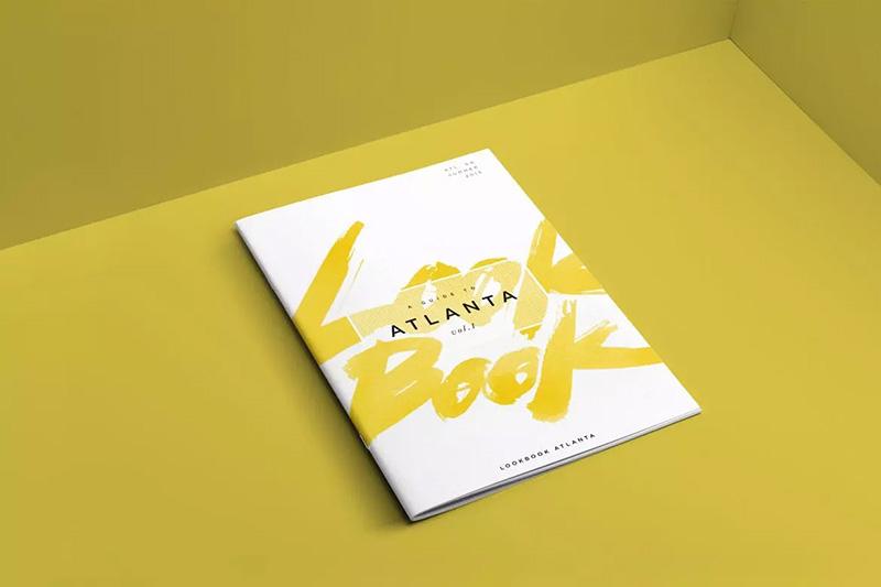 高品质和分辨率靠墙产品画册目录设计样机模板designshidai_yj63
