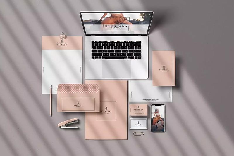 企业品牌VI视觉设计阴影效果图样机designshidai_yj64