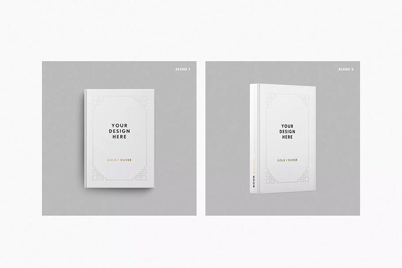 硬封书籍封面设计样机模板designshidai_yj74