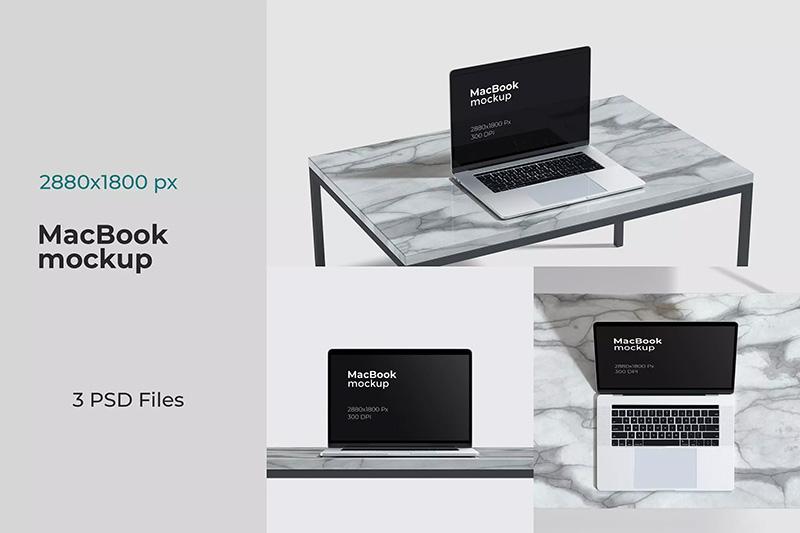 Macbook笔记本电脑网站页面效果图展示样机designshidai_yj88