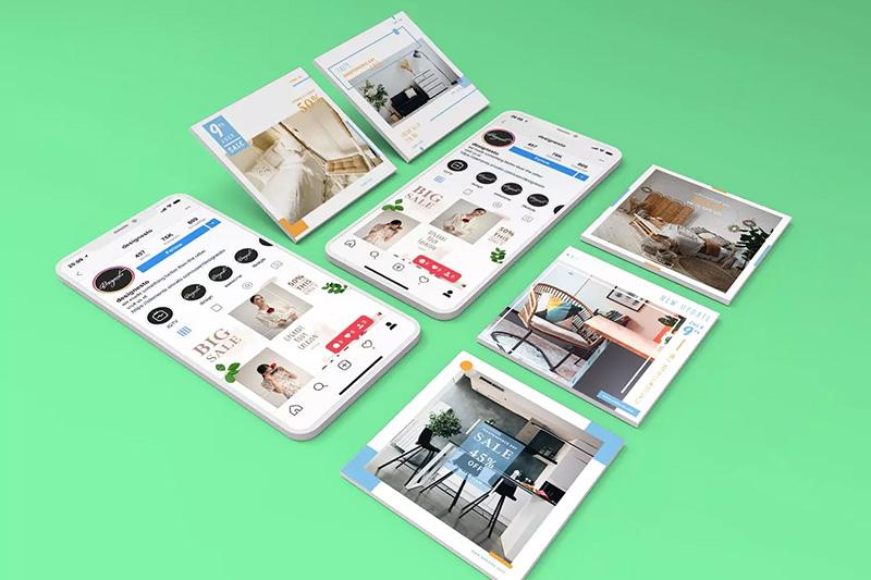 电子设备手机屏幕组合样机模板designshidai_yj118