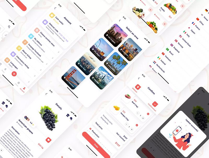 蔬菜水果外卖商店电商购物移动App应用UI设计模板套件designshidai_ui10